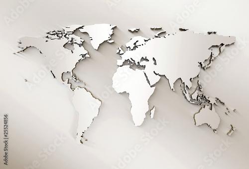 Staande foto Wereldkaart World map