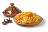 Traditional Moroccan couscous dish