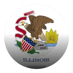 boule illinois ball drapeau flag