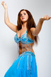 beautiful Bellydancer in blue costume