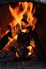 Kaminfeuer - Hochformat