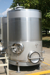 Wine fermenting or storage tank
