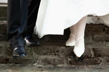 gemeinsamer Weg des Brautpaares in die Zukunft