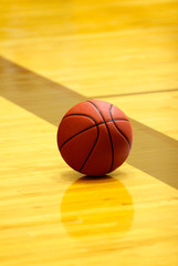 Basket ball on court