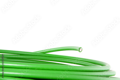 green energy isolated on a white background