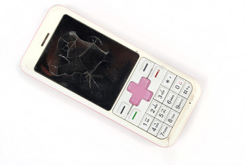 broken cellphone
