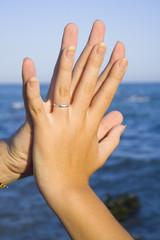 Midiendo las manos