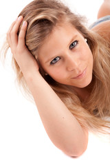 Young casual woman portrait