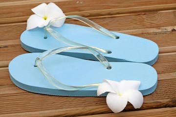 sandales fleuries, pour accueil sauna relaxation