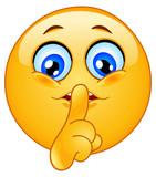 Fototapety Hush emoticon