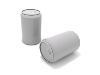 3D rendering of a couple of soda cans