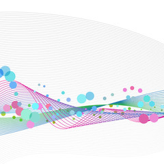 Waveform dots abstract