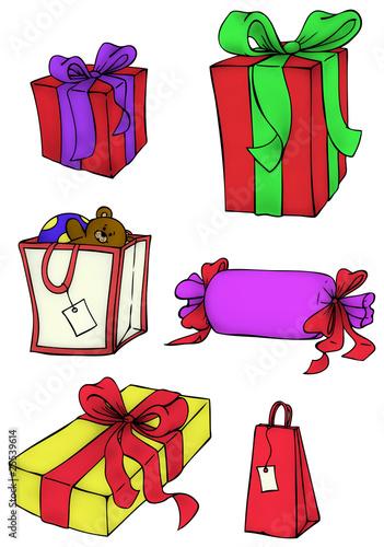 geschenke geschenk weihnachtsgeschenke von christine wulf lizenzfreies foto 25539614 auf. Black Bedroom Furniture Sets. Home Design Ideas