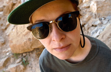 joung woman with sunglasses