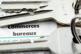 clés de commerces  et bureaux poster
