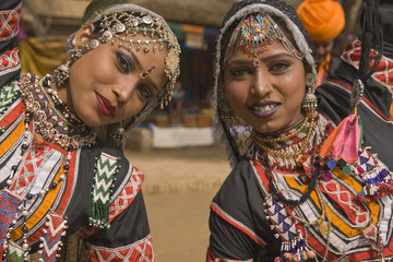 Tribal Dancers from Jaipur in Rajasthan, India