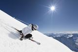 Female mountain skier