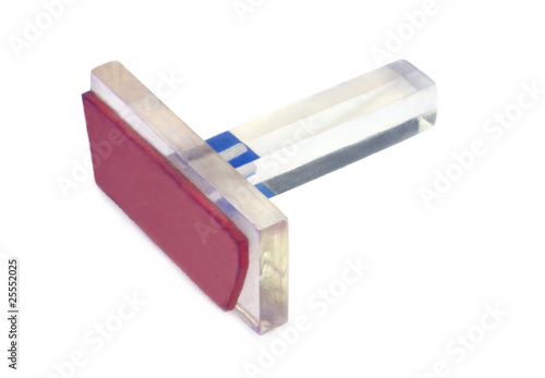 Transparent plastic rubber ink stamp