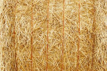 closeup hay bale