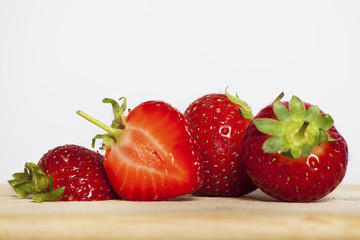 collection of strawberries