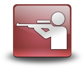 "Red 3D Effect Icon ""Hunting"""