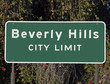 Beverly Hills City Limits Sign