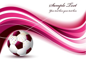 abstract Soccer ball on a creative wave