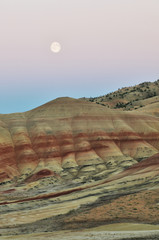 Painted Hills at moonrise