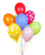 Colorful balloons on white