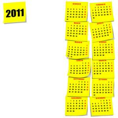 Calendario 2011 post-it 3