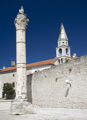The Roman forum remains in Zadar.