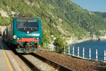 train in Corniglia, cinque terre, liguria