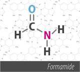 Set of chemistri orgnick formulas poster