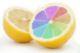 Colored lemon