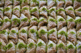 Baklava with pistachio in Turkey