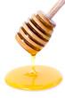 Miel et cuillère à miel