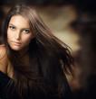 Beautiful Young Woman.Amazing Brunette