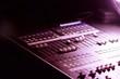 Soundboard mixer at a concert
