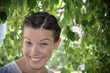 Young beautiful girl smile in the park
