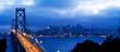 Bay Bridge and San Francisco panoramic view
