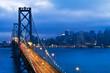 Bay Bridge and San Francisco city view at night