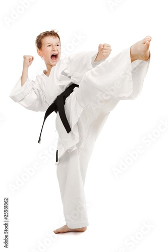 Papiers peints Combat Karate Kick