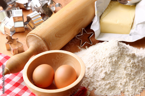 Baking cookies, ingredients for cakes