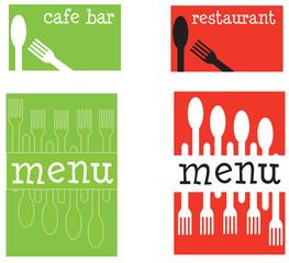 fun menu and business card set
