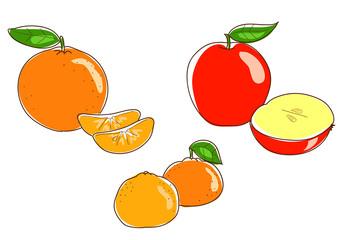 Frutta: arancie mandarini e mele