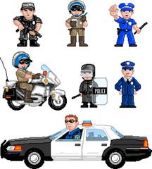 PixelArt: Police Set