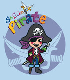 Sailing pirate boy costume with swords