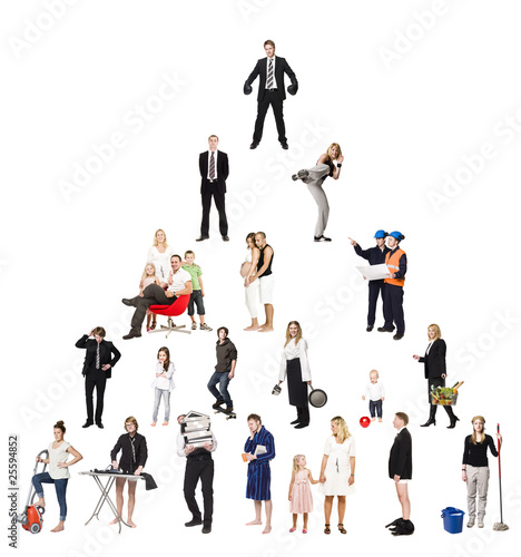 Pyramid of Real People