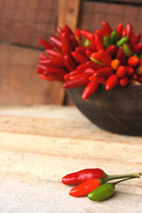 peperoncini tricolore