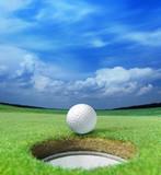 golf ball on lip